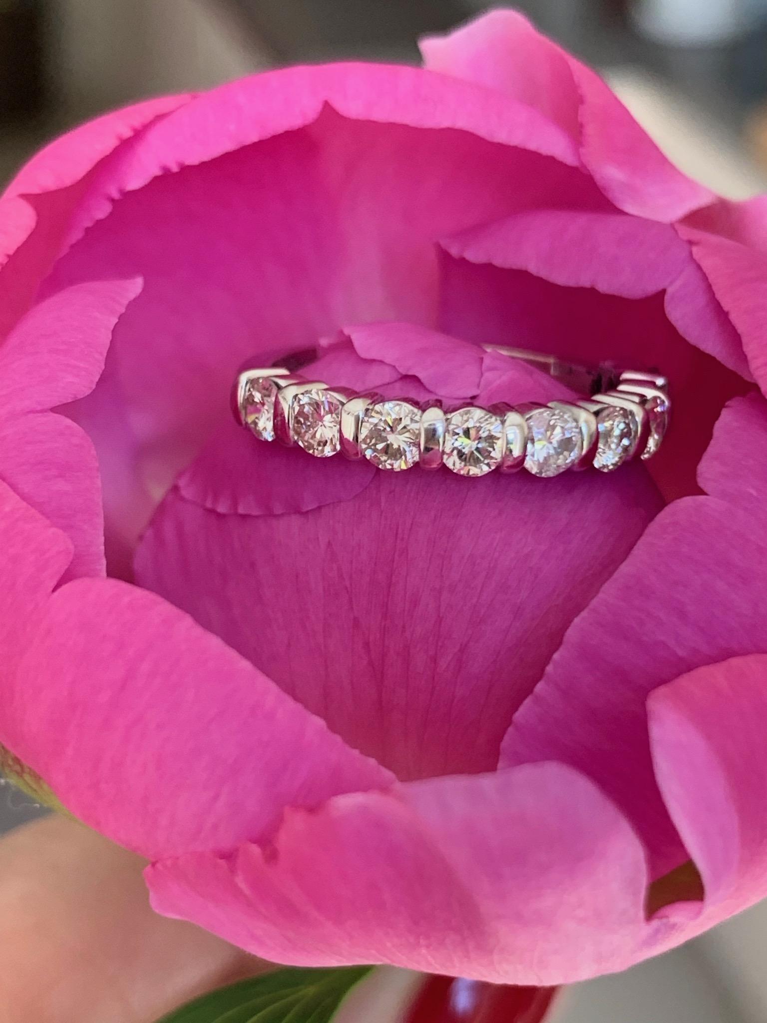 Half eternity ring in white gold