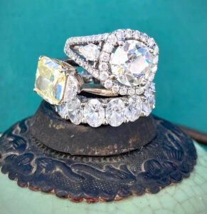 Custom designed diamond jewelry