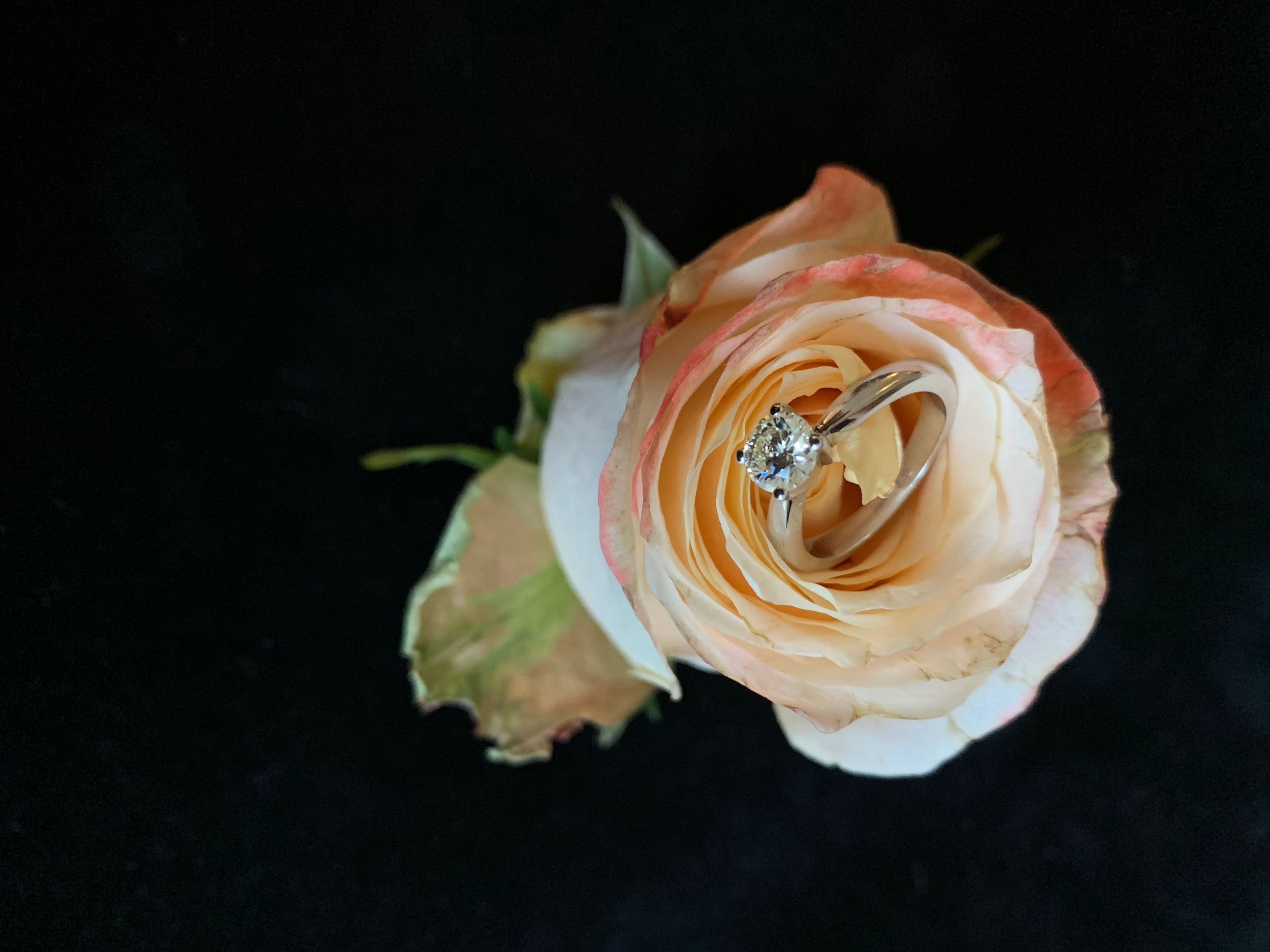 Solitaire ring with brilliant cut diamond