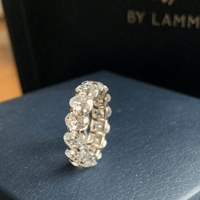The finished custom ring