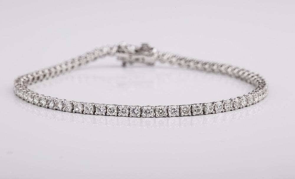 Klassisk diamant smykke - diamant halskæde