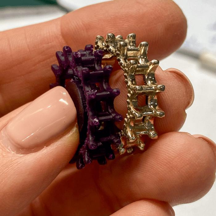 3D print af diamantringen